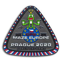 GPS MAZE Europe 2020 Geocoin - Supporters Special Edition