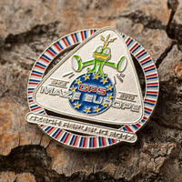 GPS MAZE Europe 2017 Geocoin - Nickel Edition