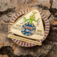 GPS MAZE Europe 2017 geocoin - Gold Edition