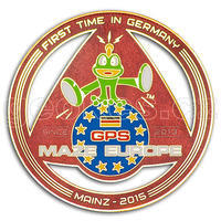 GPS MAZE Europe 2015 geocoin - Red Gold edition LAST CHANCE