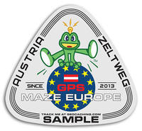 GPS MAZE Europe 2018 - trackable sticker