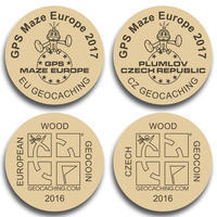 GPS MAZE Europe 2017 - Wooden coins set