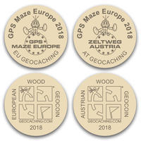 GPS MAZE Europe 2018 - Wooden coins set