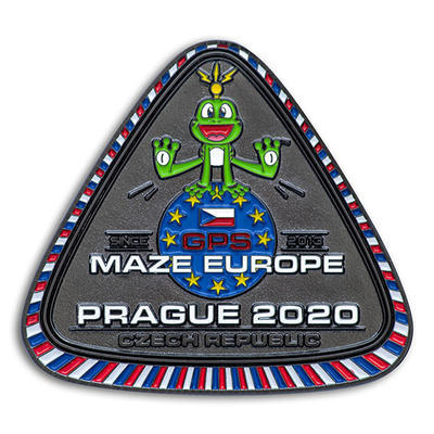 GPS MAZE Europe 2020 Geocoin - Supporters Special Edition - 1