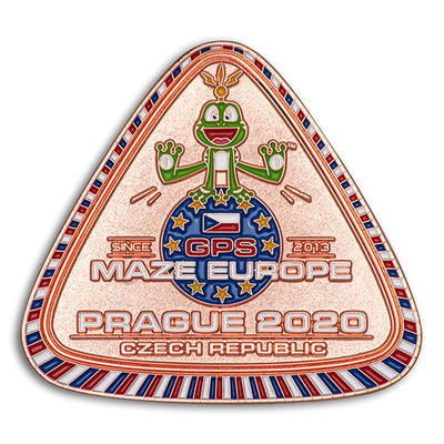 GPS MAZE Europe 2020 Geocoin - Copper Limited Edition - 1