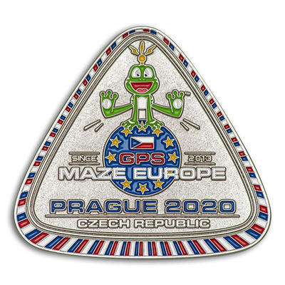 GPS MAZE Europe 2020 Geocoin - Nickel Edition - 1