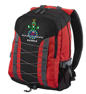 GPS MAZE Europe 2020 - trackable backpack red