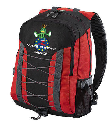 GPS MAZE Europe 2017 - trackable backpack red - 1