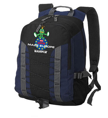 GPS MAZE Europe 2018 - trackable backpack blue - 1