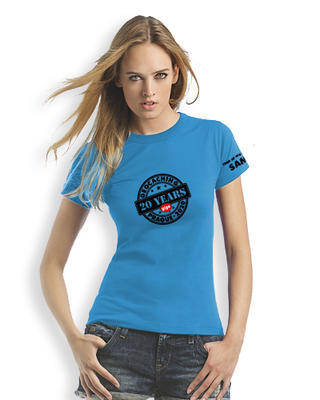 2020 GIGA Prague - Ladies trackable t-shirt - blue