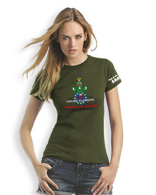 GPS MAZE Europe 2020 - Ladies trackable t-shirt - khaki - 1