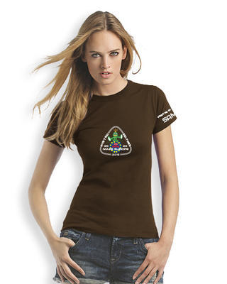GPS MAZE Europe 2018 - Ladies trackable t-shirt - brown - 1