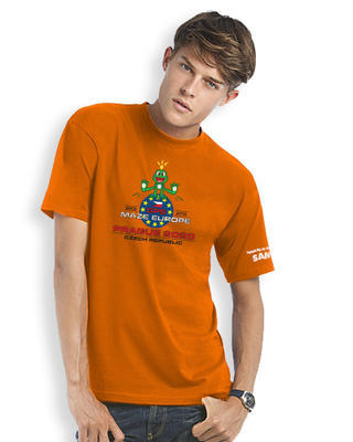 GPS MAZE Europe 2020 - Trackable t-shirt - orange - 1