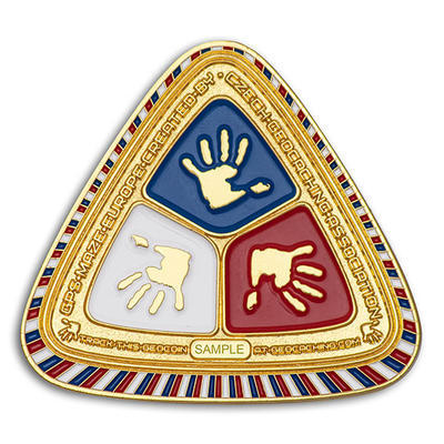 GPS MAZE Europe 2020 Geocoin - Gold Edition - 2