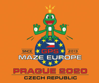 GPS MAZE Europe 2020 - Trackable t-shirt - orange - 2