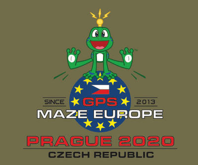 GPS MAZE Europe 2020 - Trackable t-shirt - khaki - 2